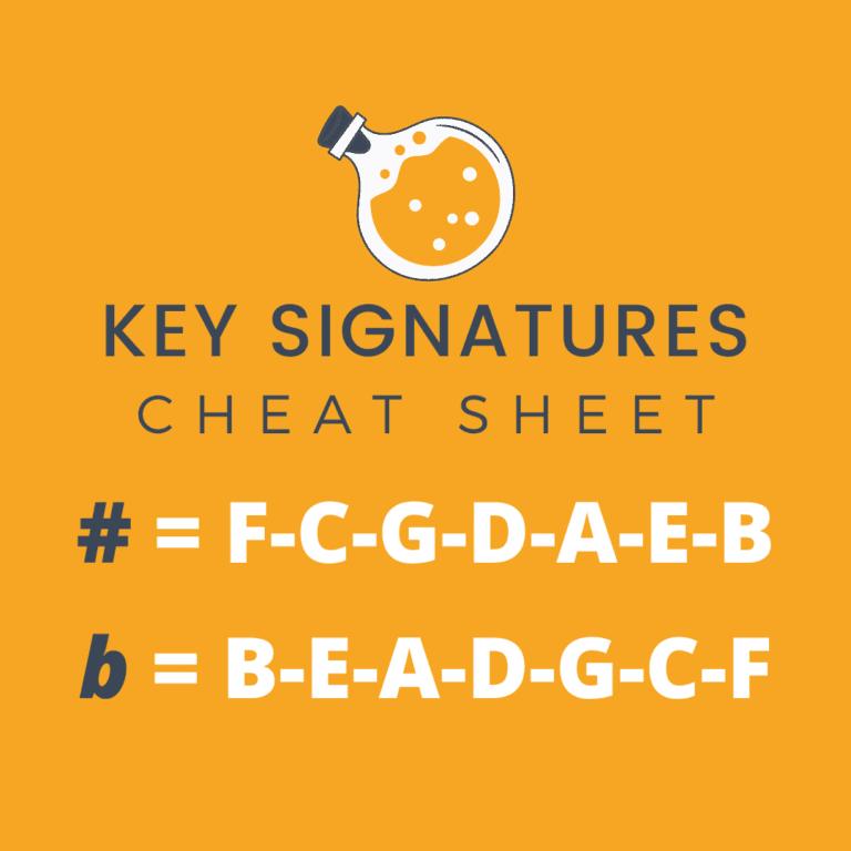 Key Signatures - cheat sheet PDF