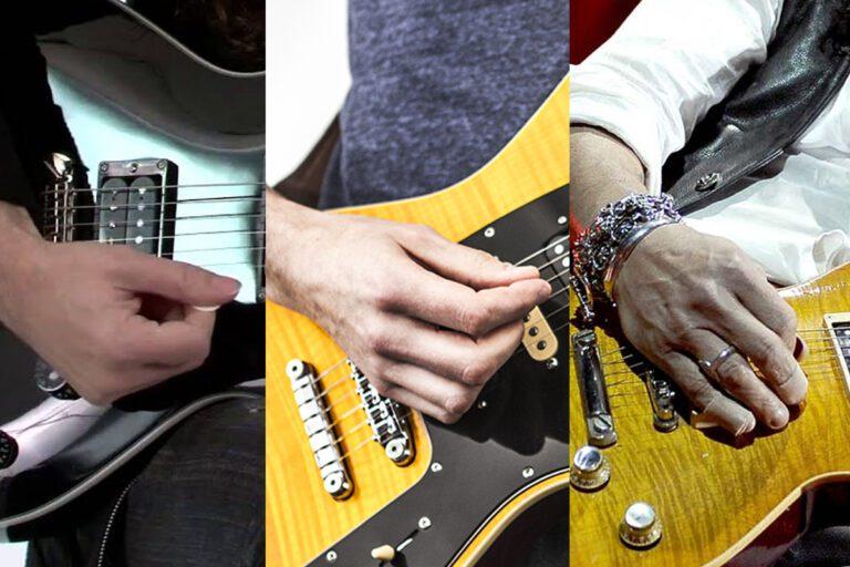 Guitar plectrum angle