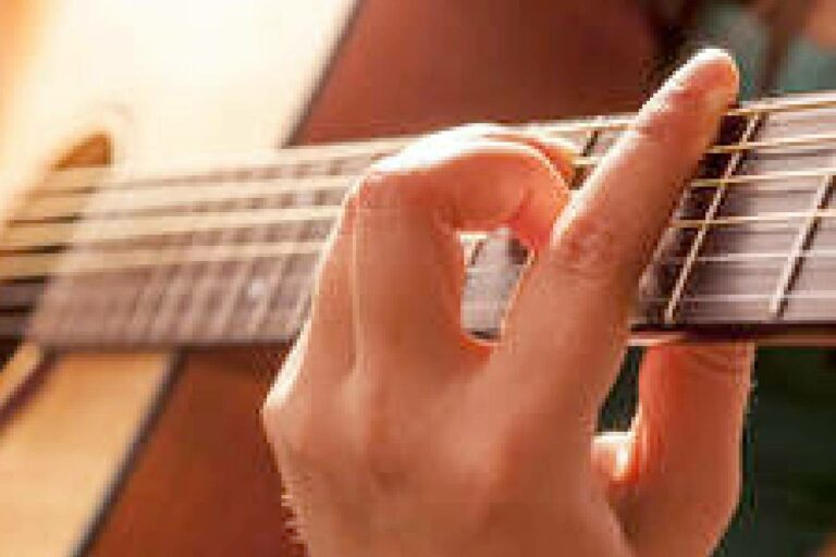 Barre Chord on the Guitar neck