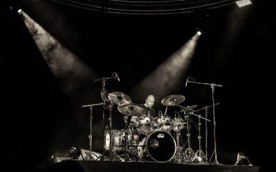 Drums musician in a Brussels Concert