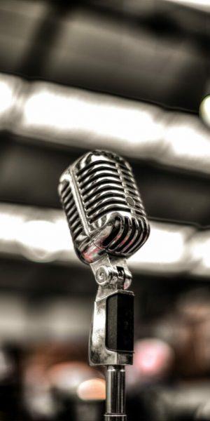 Foto de un micrófono de voz
