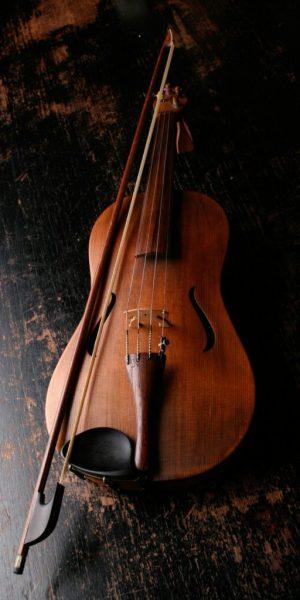 Foto de un violín de un alumno