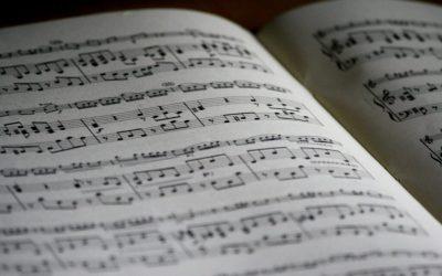 Guitar music score