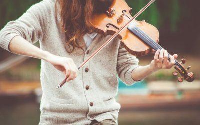 Our violin in a violi lesson in amsterdam