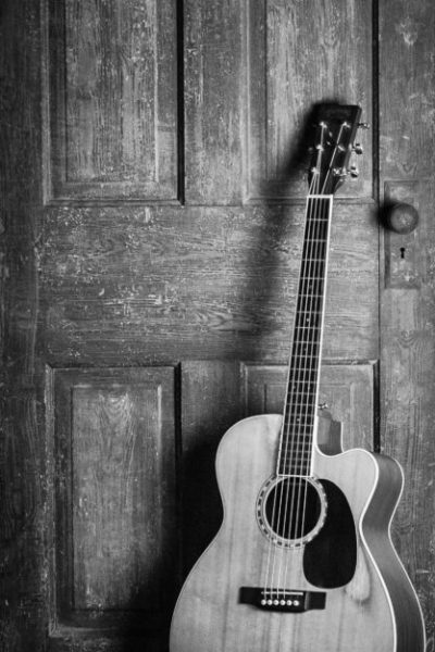 Photo of a guitar
